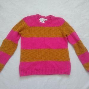 New 🎀 Hot pink stripes wool alpaca chunky knit